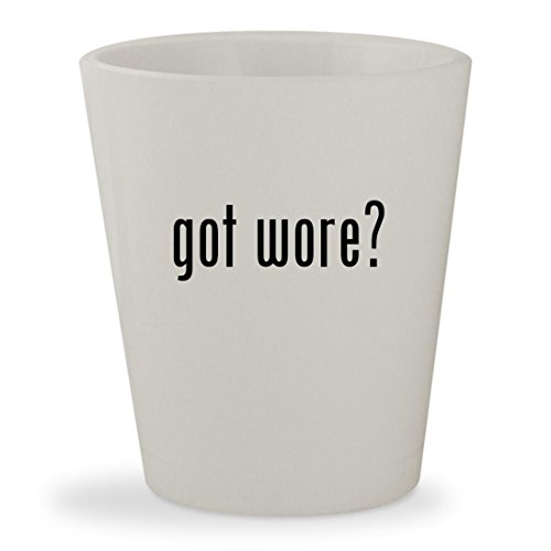 got wore? - White Ceramic 1.5oz Shot Glass (Leather Tie Spy)