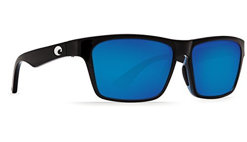 Costa Del Mar HNO11OBMP Hinano Sunglass, Shiny Black Blue - Hinano Costa