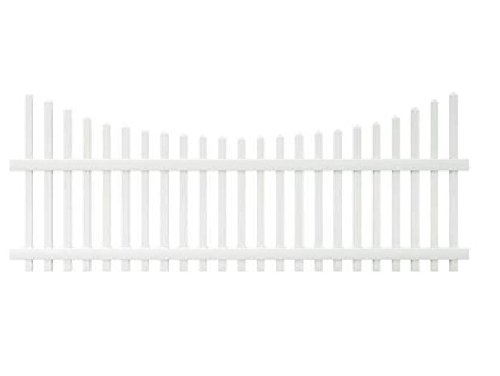 Veranda 4 ft. x 8 ft. Chatham Scalloped Top Spaced Picket Vinyl Fence Panel - Unassembled (Fencing Vinyl Scalloped)