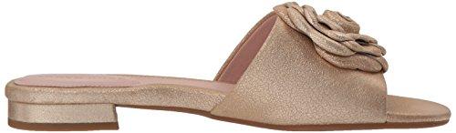 Taryn Rose Womens Violet Shimmer Metallic Slide Sandal Gold HFyydP7