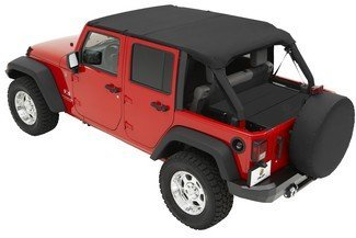 Bestop Bikini Top Combo for Jeep Wrangler JK Unlimited 2007-09 - Includes Bestop Header Safari Bikini # 52581-35 & Windshield Channel # 51243-01 (Top Bestop Bikini Safari Header)