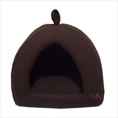 Best Pet Suppliers TT631L Corduroy Tent Pet Bed – Dark Brown – Size Large, My Pet Supplies