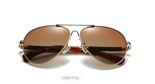 Caja Espejo Cl¨¢sico la Marca con T¨¦ Gafas los polarizadas Aviador de Zygeo Sol Lujo de Sol de como Pilot Hombres Plata Masculino Gafas Regalo Oro Hombre de de la de Espejo Hvv16q