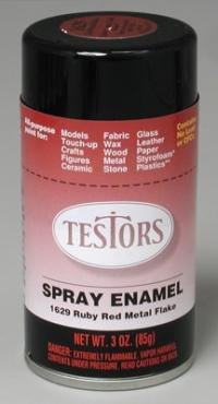 Red Metal Flake Enamel Paint 3oz Spray Can