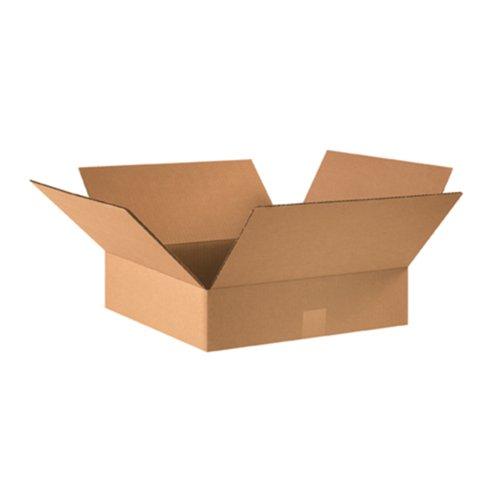 Aviditi 16164 Flat Corrugated Box, 16' Length x 16' Width x 4' Height, Kraft (Bundle of 25)