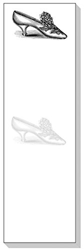 Ars Antigua Slim Writing Blocs (Notepads) • Satin Slipper • Vintage Engraving • Two Blocs of 50 Sheets Each - Total of 100 Printed Sheets -