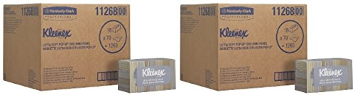 Kleenex Hand Towels (11268), Ultra Soft and Absorbent, Pop-Up Box, 2 Cases (18 Boxes), 70 Paper Hand Towels / Box, 1,260 Sheets / Case