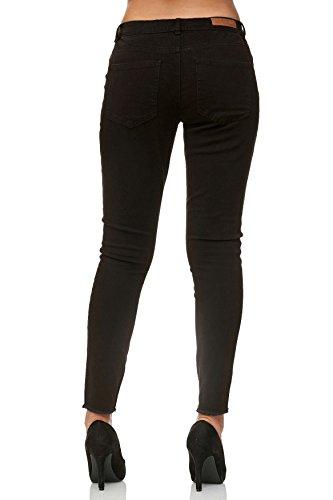 Pantaloni Tubo Skinny D2398 Reg Caviglia Nero Jeans Donna SS6w8