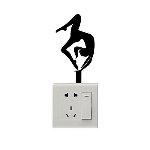 KGTHSS Die eleganten Frauen Schwebebalken Turnen Vinyl Schalter Aufkleber 5 WS0632