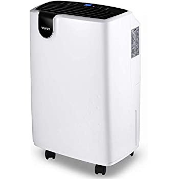 Home Basements Bedroom Vacplus 1500 Sq.Ft Dehumidifier for Medium Rooms Efficiently Removes Moisture with Pump and Continuous Drainage Outlet Timing Shutdown//Start-up 1903