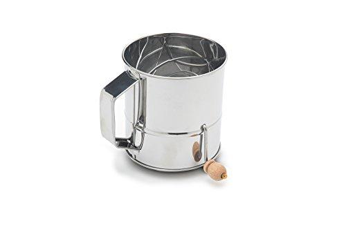 Fox Run 4638 Flour Sifter, Stainless Steel, - Flour 3 Sifter Cup
