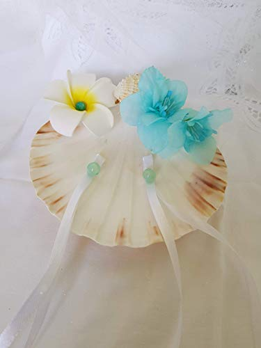 Elegante alforja de anillo de bodas en concha Ramo de Novia