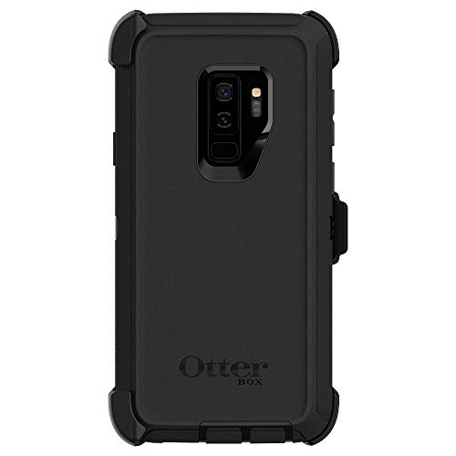 OtterBox DEFENDER SERIES Case & Holster for Samsung Galaxy S9 Plus - New SCREENLESS design - (Renewed) (Black) ()