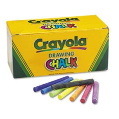 * Colored Drawing Chalk, Six Each of 24 Assorted Colors, 144 Sticks/Set