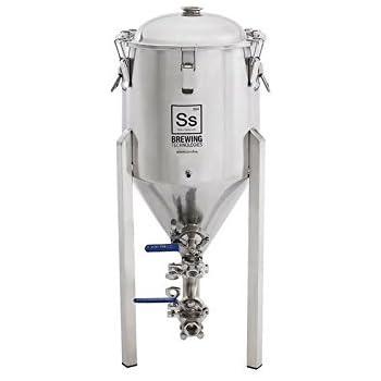 Ss Brew Tech 7 Gallon Chronical Fermenter (Stainless Steel Conical Fermenter) by Ss Brewing Technologies Brew Bucket