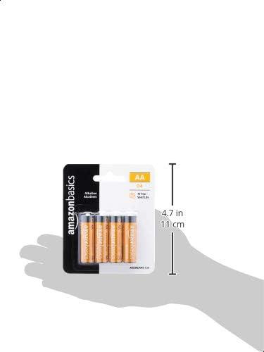 AmazonFundamentals AA 1.5 Volt Performance Alkaline Batteries - Pack of four