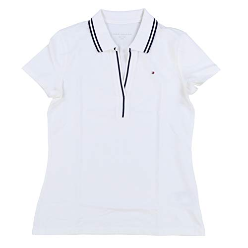 (Tommy Hilfiger Womens Abby Polo Shirt (Medium, Classic White))