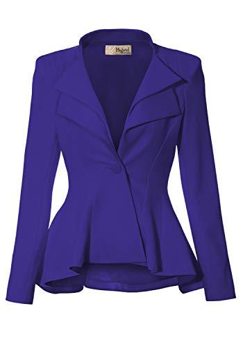 Women Super Comfy Ponte Office Blazer JK43864 1073T Midnight B 1X ()