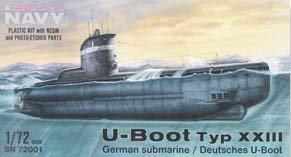 - Special Hobby WWII Special Navy U-Boat Type XXIII German Submarine (1/72 Scale)