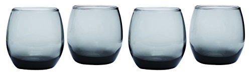 Circleware Uptown Grey Stemless Red-White Wine Glasse, Set of 4, 11.5 ounce