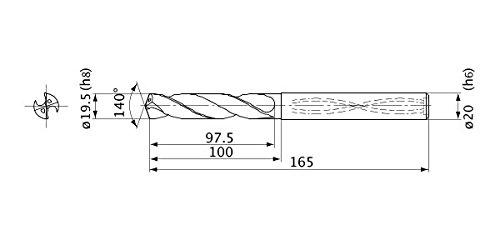 8 Hole Depth 4.7 mm Cutting Dia 6 mm Shank Dia. 0.9 mm Point Length Mitsubishi Materials MVS0470X08S060 Series MVS Solid Carbide Drill Internal Coolant
