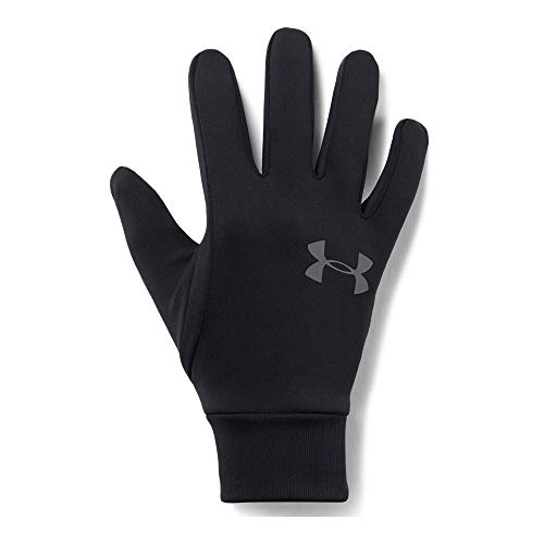 Under Armour Men's Armour Liner 2.0 Gloves, Black (001)/Graphite, Large (Under Armour Touch Screen Gloves)