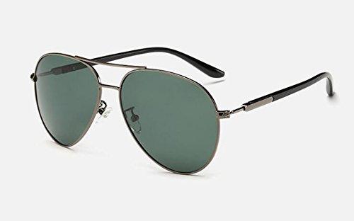 de polarisées en Vert rond cercle Foncé Film A métallique du soleil vintage style Lennon retro lunettes inspirées BSEdBqw
