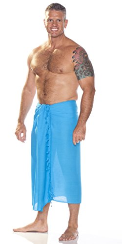 1 Sarong de Sarongs para mundo hombres turquesa Unicolore BIwpZ