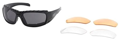 glasses, Black Frame, Smoke/Clear/Lt. Rust Lens, Z-001 BLACK (Body Specs Black Sunglasses)