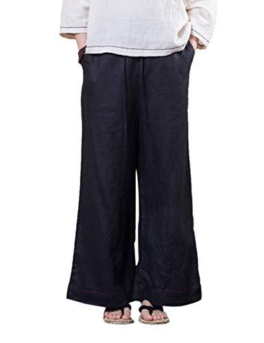 Coton Unisexe Confortable t en Trouser Pantalon Harem Zhhlinyuan Lanterne Lin Pantalon Vrac 2 Taille Baggy Elastique Noir nUOw8ndqxT