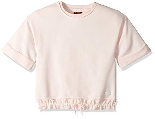 - 7 For All Mankind Kids Girls' Big 3/4 Sleeve Fashion Sweatshirt Top, Pearl, XL