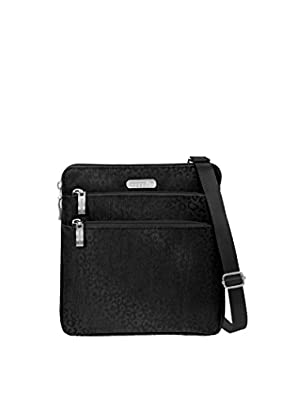 Amazon.comBaggallini Zipper Crossbody Travel Bag, Black Cheetah