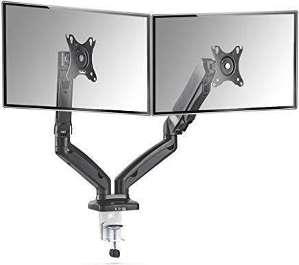 VonHaus Full Motion Dual Monitor Mount Stand for 13-27