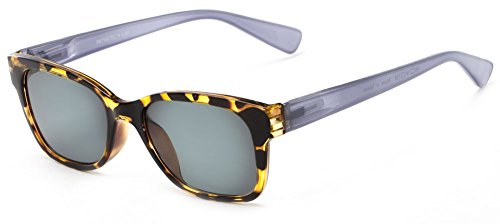 86c16c5eb4 Readers.com The Azalea Sun Reader +1.00 Tortoise Purple with Smoke Trendy  Two