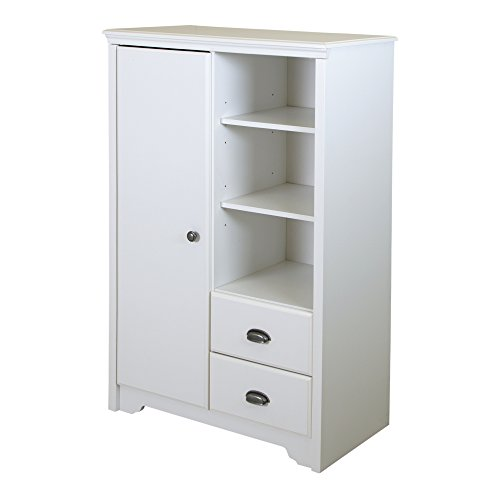 South Shore Fundy Tide Armoire with Drawers, Pure White by South Shore