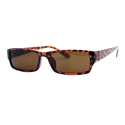 Rectangular Plastic Frame Sunglasses - 5