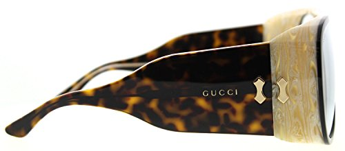 ad382a63b4b Gucci GG0149S Sunglasses 002 Black Havana   Light Blue Lens 63 mm ...