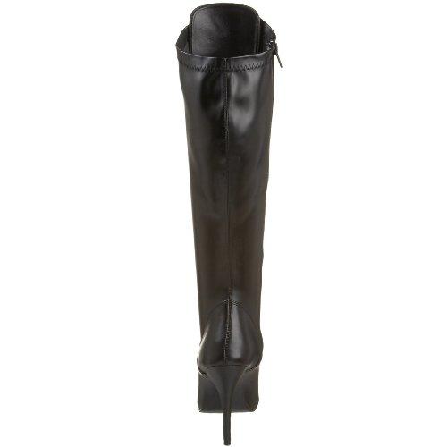 Pleaser Damen Seduce-2024 Langschaft Stiefel Schwarz (Schwarz (Blk Str Faux Leather))