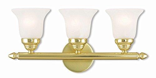 Livex Lighting 1063-02 Neptune 3 Bath Light, Polished Brass Classic Bath Fixture