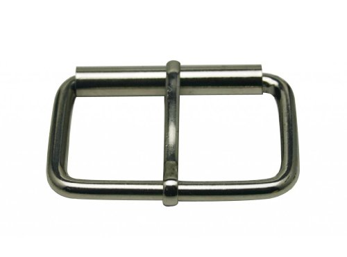 Generic Metal Silvery Rectangle Buckle with Slider Bar 2