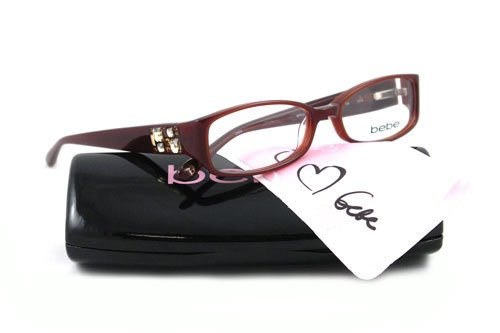 fbd63876adef Image Unavailable. Image not available for. Colour  BEBE EYEGLASSES BB 5007  BROWN SMOKED TOPAZ AFFLUENT