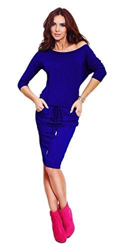 Glamour Empire Para mujer deporte Vestido a media cintura anudada bolsillos 533 Azul Real