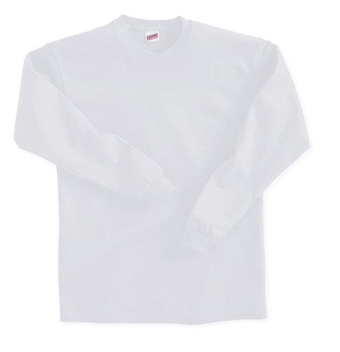 Soffe Big Boys' Long Sleeve T-Shirt,White,L