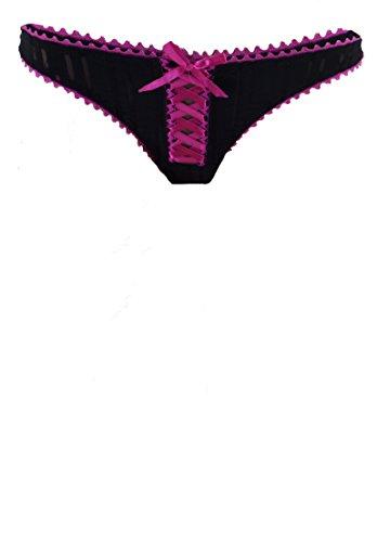 Philip Russel–Mujer Pack de 3Strings y Slip negro