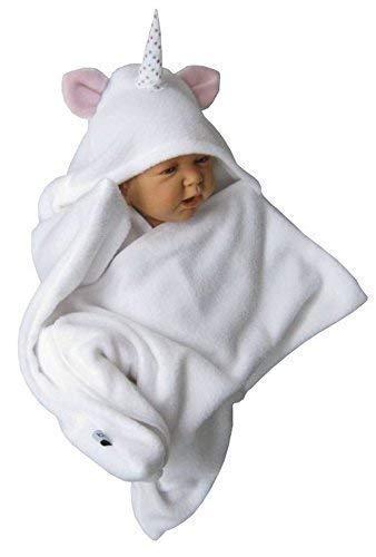 heiß-verkaufendes spätestes Kundschaft zuerst erstklassig stern star fleece baby wrap schlafsack pucktuch swaddle einhorn weiß