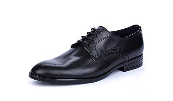 DCalderoni Mulhac/én Negro Zapato Vestir De Piel con Cordones Hombre 45-50 EU