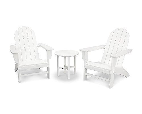 (POLYWOOD Vineyard 3-Piece Adirondack Set (White))