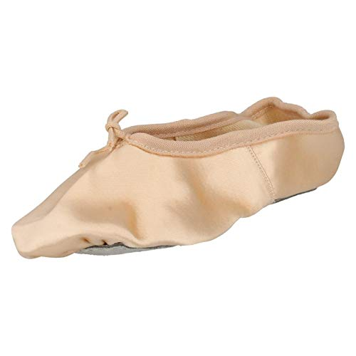 Ballet Spot Satin Childrens On Shoes Sole Soft Pink qfaTEvwxrf