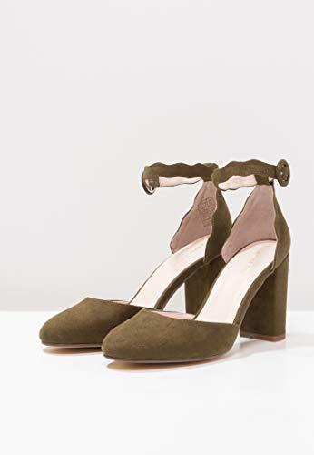 216807f0cc839c Délicates À Talons Avec Ondulé Pour Olive Femmes Jane Escarpins Élégantes  Anna Chaussures Mary Sangles Field ...