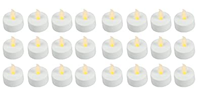 LED Tealight Candles Battery Operated Flameless Tealight Candles with Long Burn Time - 24 Bulk Pack of Tealights Flameless Candles by Easy Gift Ideas